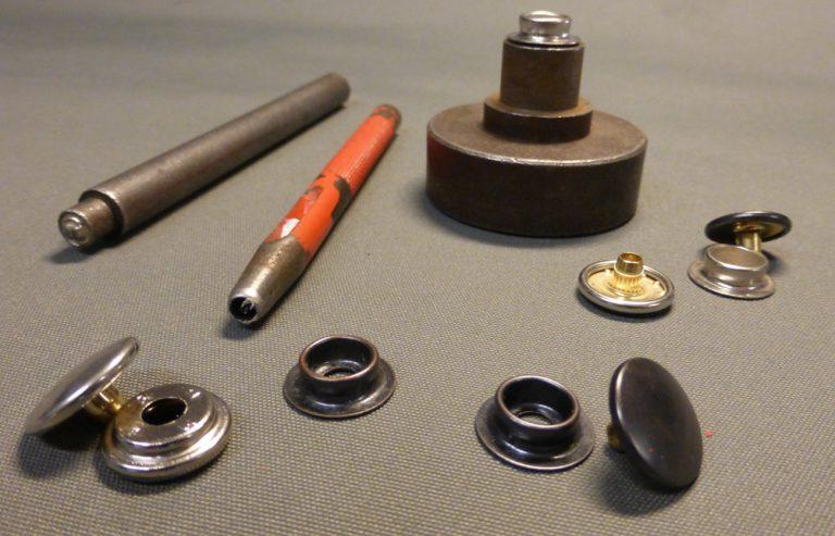 Drukknop tent reparatie gereedschap